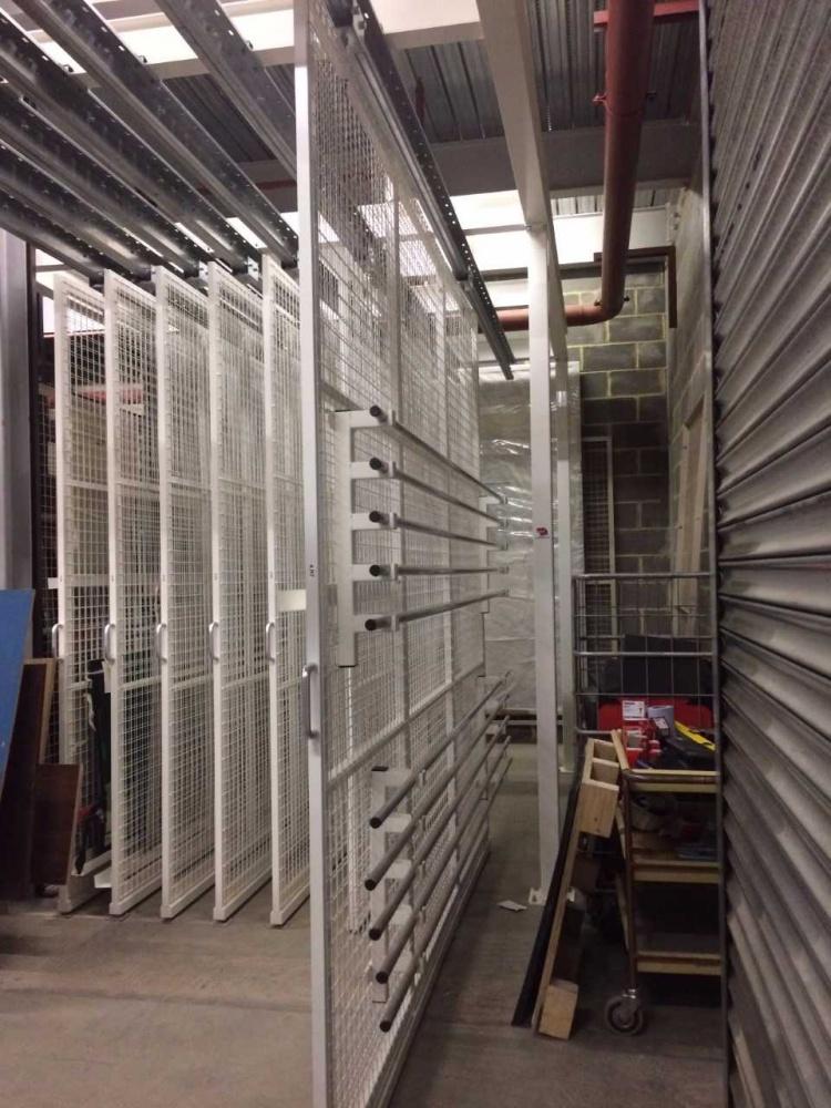 Museum Rolled Fabric Storage Racks